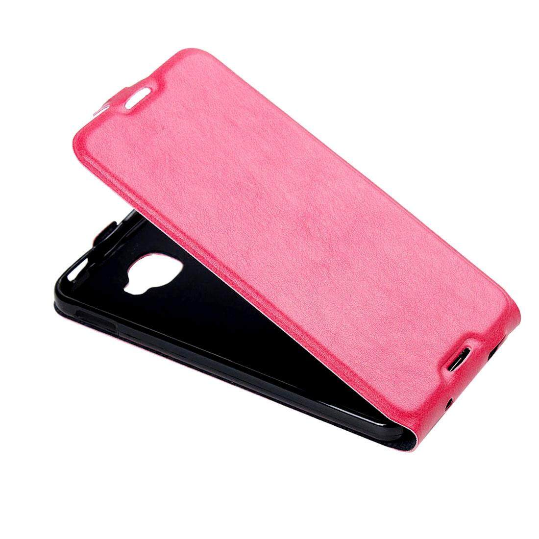 For Alcatel Idol 4S Vertical Flip Leather Case with Card Slot & Photo Frame(Magenta) - intl
