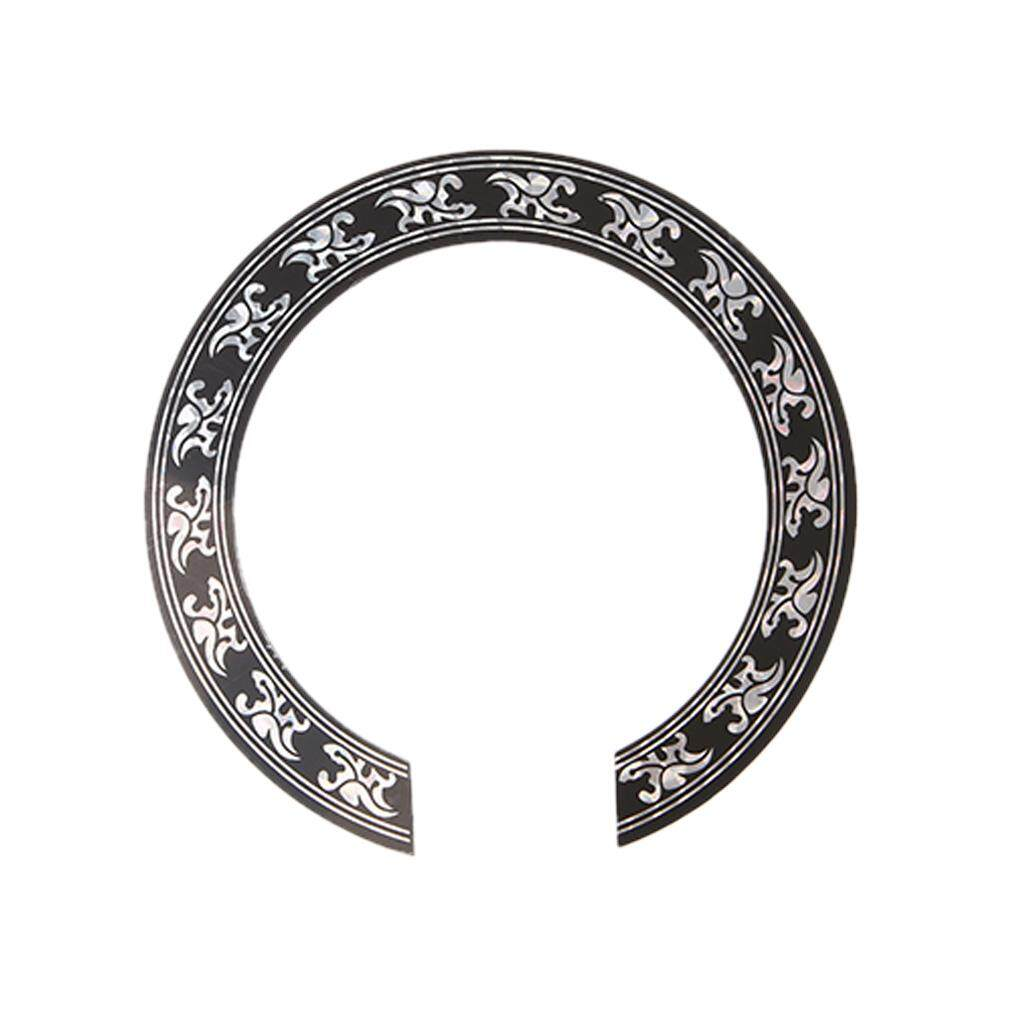 ... 104mm Hard PVC Guitar Circle Sound Hole Rosette Inlay Replacement Parts intl