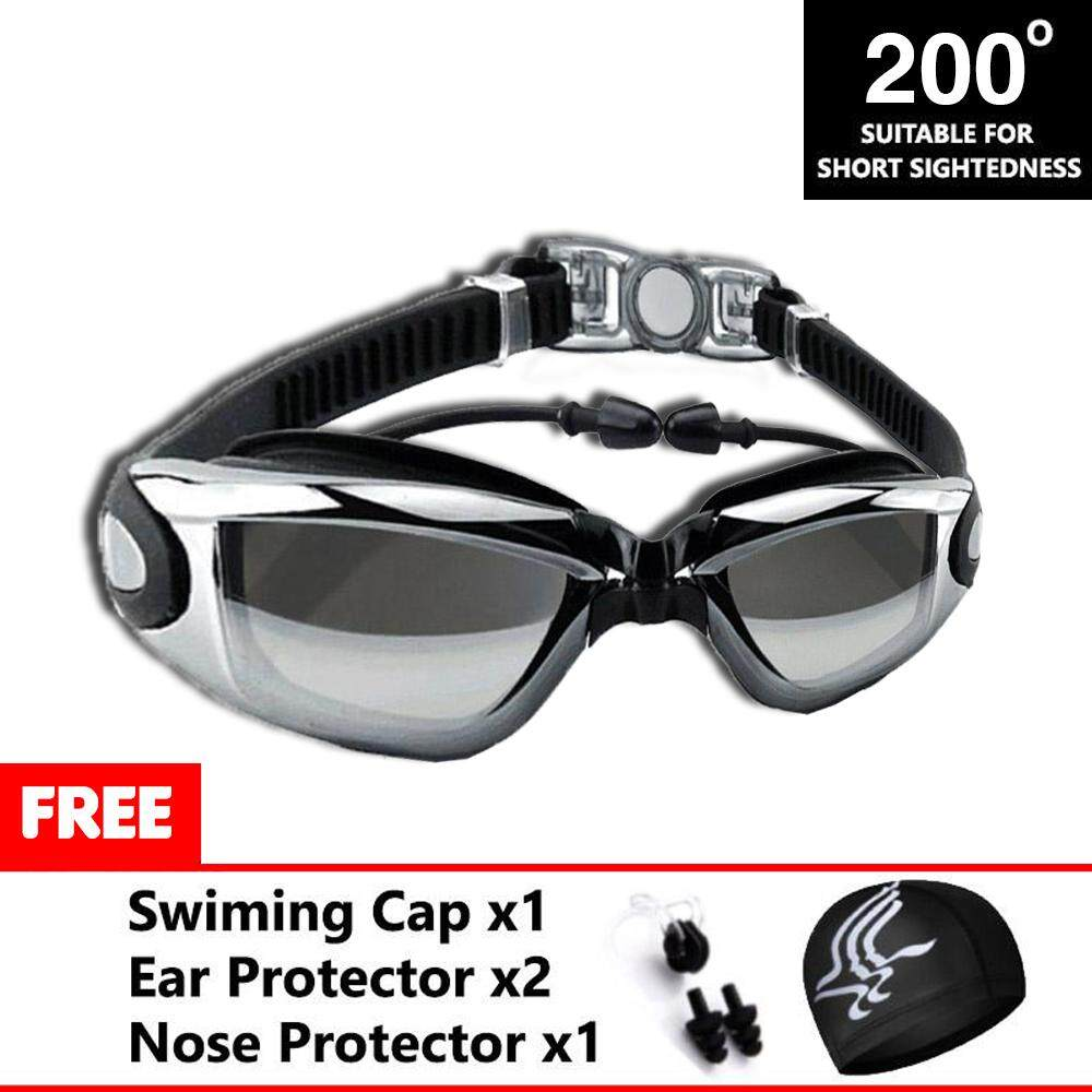 YOUYOU (200?) Adult Anti Fog Swimming Goggles High Defination Waterproof Glasses with Protective Case Tinted UV Protection For People With Low Vision (Power Edition) - Premium