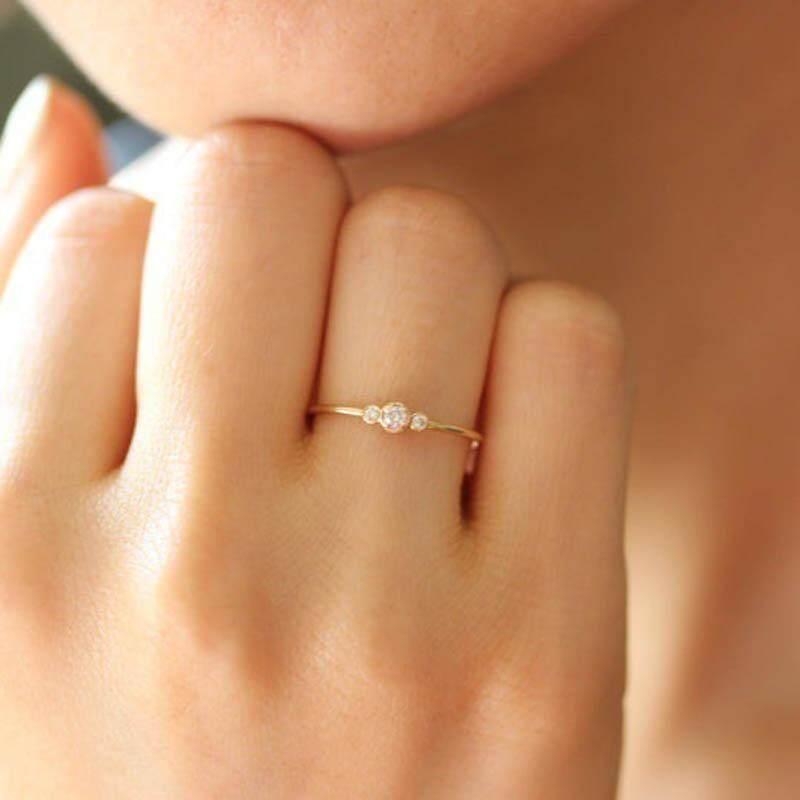 Wanita Kristal Anti Alergi Pernikahan Pertunangan Lingkaran-Internasional - 4