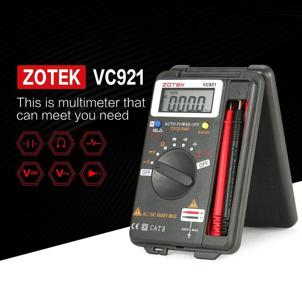 ZOTEK VC921 4000 Counts Auto Range Digital Multimeter Pocket DC/AC Voltage Dark gray