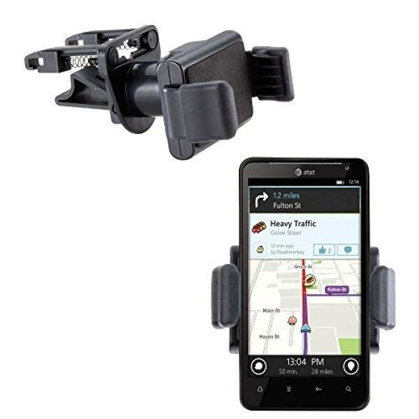 Gomadic Ultra Compact Air Vent Clip Based Cradle Holder Car / Auto Mount suitable for the HTC Vivid - intl