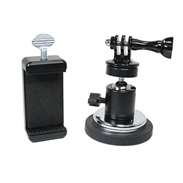 Aksi Dudukan Karet Coated Magnetik Kamera & Telepon Dudukan W/Bola Kepala untuk GoPro, Olahraga Kamera, atau Telepon. Bagus untuk Video, Gambar, Livestreaming, atau Wod. (XL Karet Coated Magnet)-Internasional