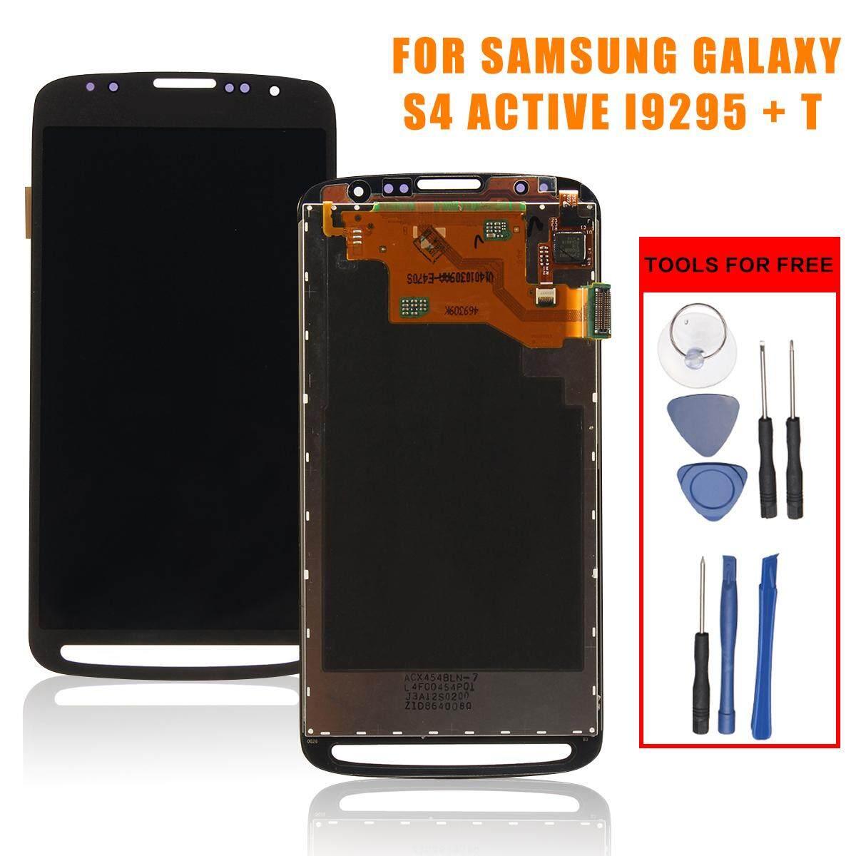 LCD Touch Layar Digitalisasi Rakitan untuk Samsung Galaxy S4 Aktif I9295 I537 + Alat-Intl