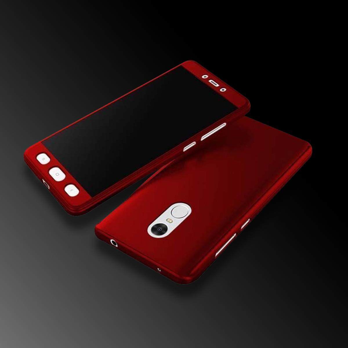 Features Xiaomi Redmi Note 4 Mediatek Version 360 Degree Tempered Glass Full Color Protective Cover Case With Galss For