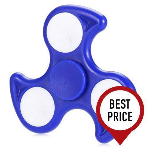 ABS TRIANGLE FIRE WHEEL FIDGET SPINNER WITH LED LIGHT ADHD FOCUS ANXIETY RELIEF TOY (BLUE) toys for girls