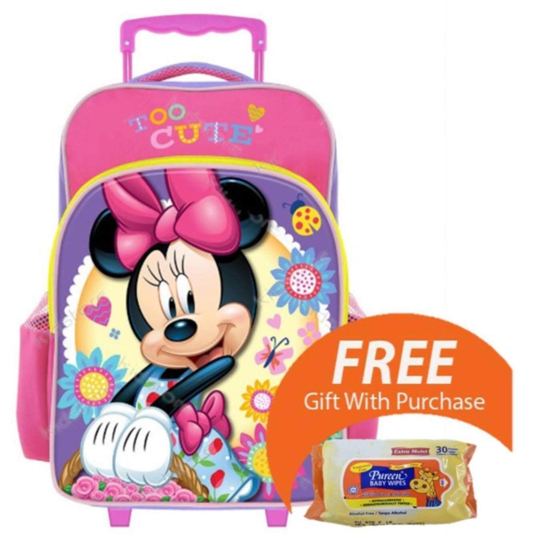 Disney Minnie Mouse Cute Pre School Trolley Bag (New Arrival)