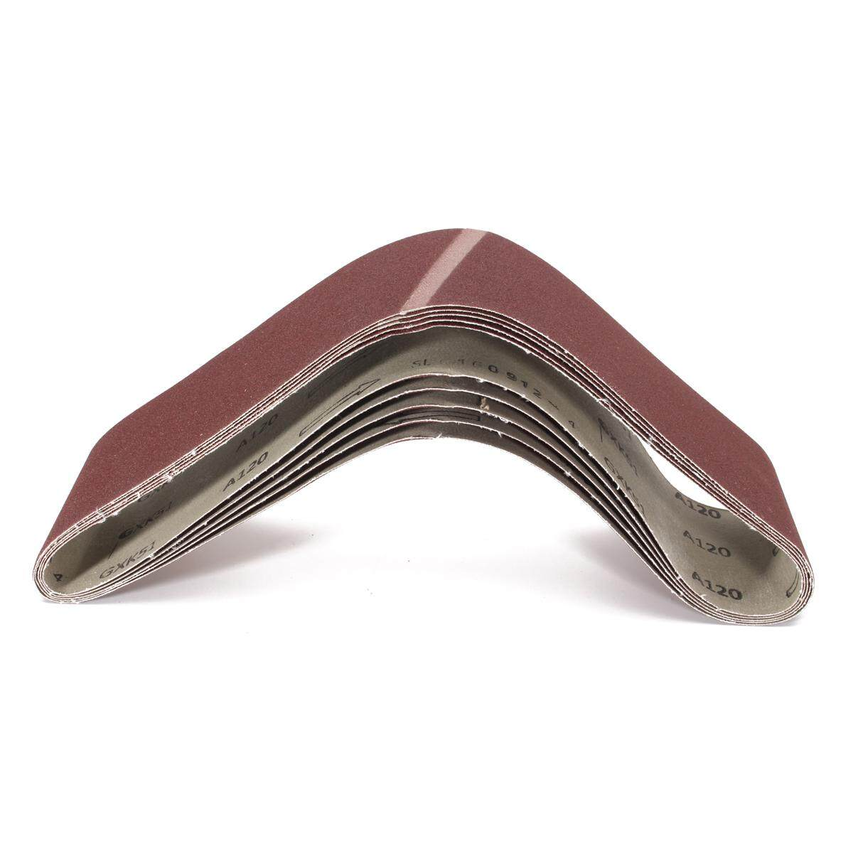 5pcs 4x36 120 Grit Sander Grinding Polishing Aluminum Oxide Sanding Belts By Ferry.