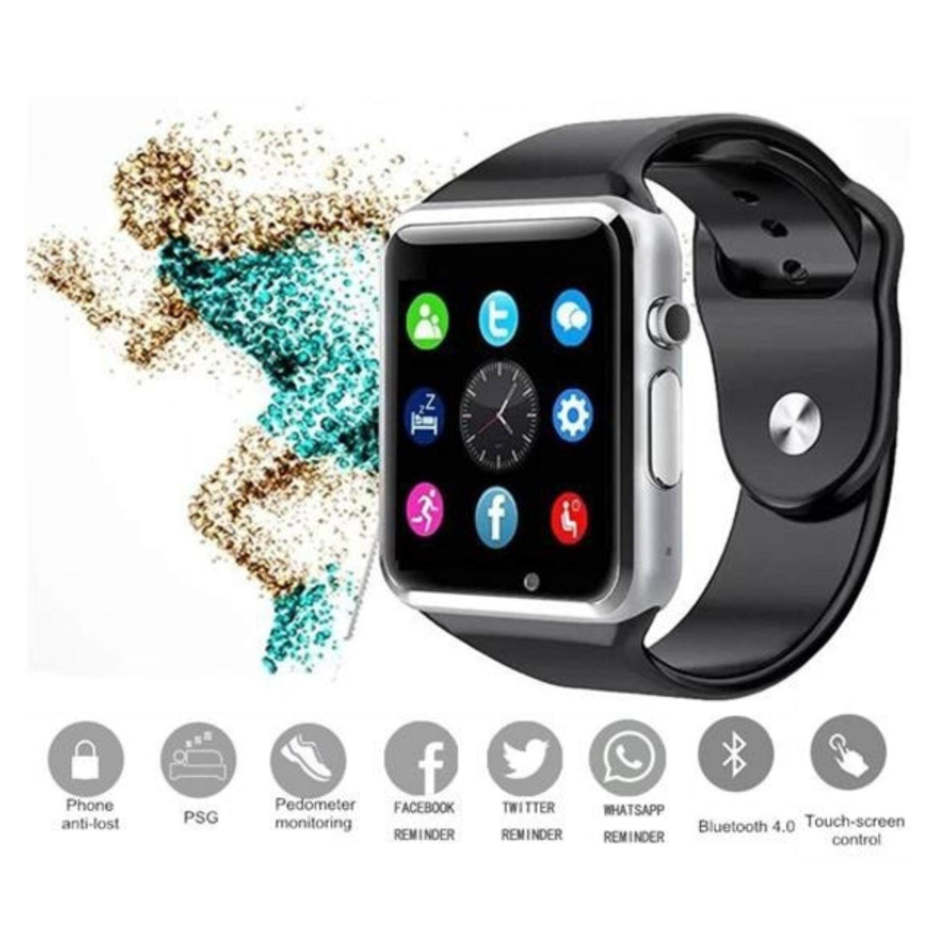 lazada pedometer watch memory sport phone with micro shop sim sd connectivity bluetooth price smart i wearable watches best malaysia camera in