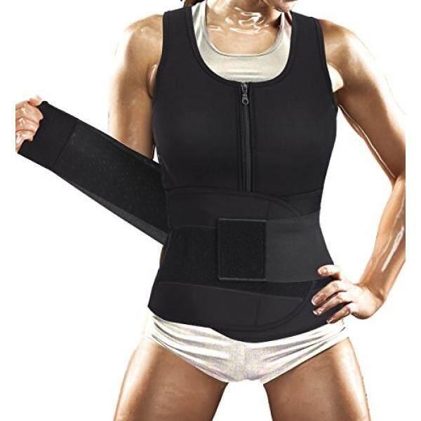 Almm Komery Wanita Sauna Setelan Pinggang Latihan Rompi untuk Sport Kerja Weight Loss Corset dengan Sabuk Neoprene Kaus Tubuh Shaper tangki Terbaik (Xl, hitam Seksi Sauna Shaper Sabuk Rompi)-Internasional