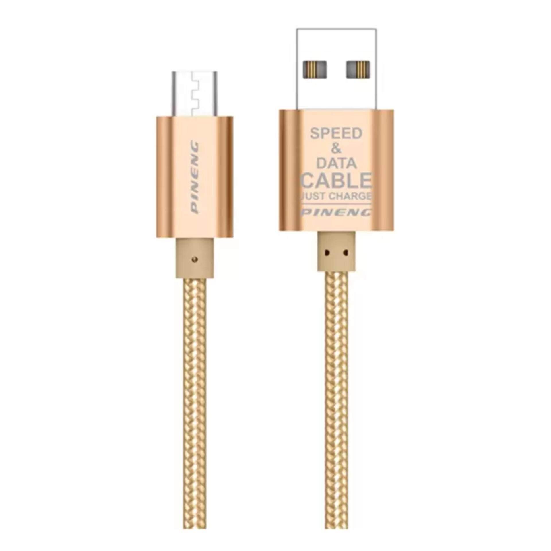 PINENG PN-306 Kabel Usb Mikro untuk Samsung/Asus/HTC/Lenovo/Vivo/Oppo/XiaoMi Dll -Internasional