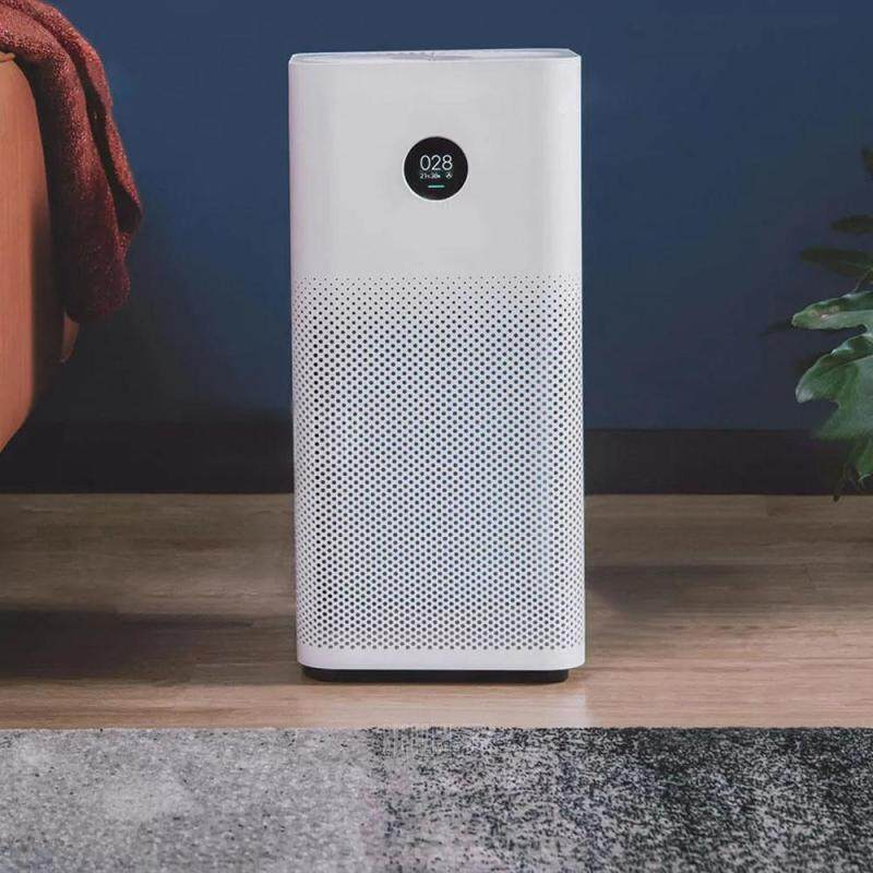 Original Xiaomi OLED Display Smart Air Purifier 2S Smoke Dust Peculiar Smell Cleaner White EU Plug Singapore