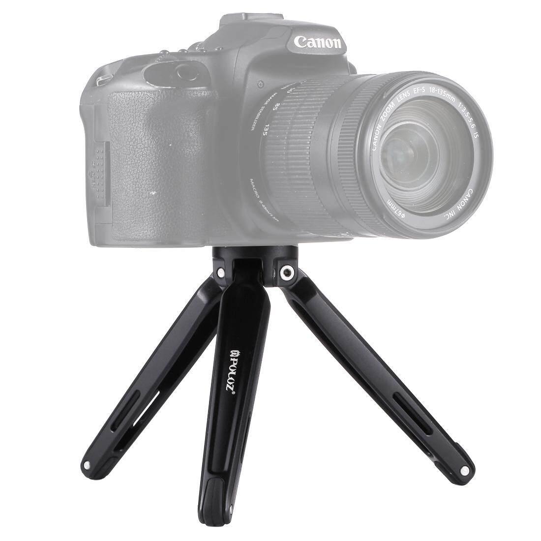 Buy Puluz Pocket Mini Metal Desktop Tripod Mount For Dslr And Digital Camera Adjustable Height 4 5 15Cm Max Load 2 5Kg Black Intl