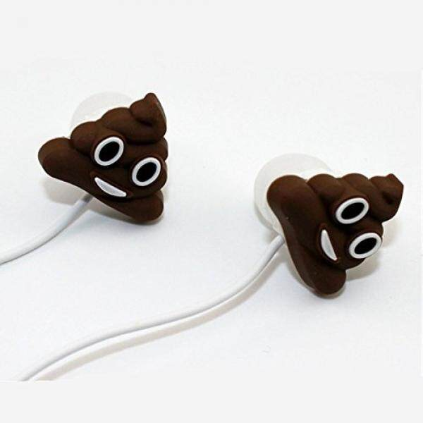 QearFun In Ear Wired 3.5 mm 3D Cute Cartoon Poop Joke Earphone/Earbuds/Headphones with Mic Hands-free for Apple,Samsung,HTC,Android Smartphones Mp3 - intl