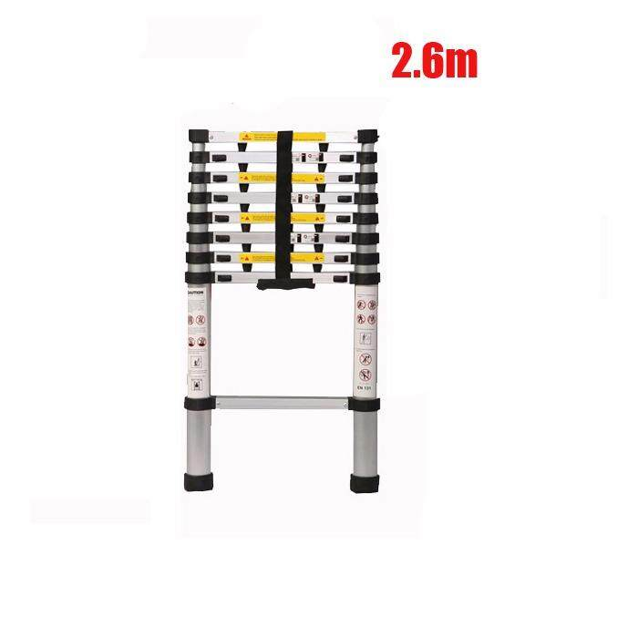 In stock 2.6m ~ 3.8m telescopic ladder portable multifunctional folding ladder household ladder bamboo ladder