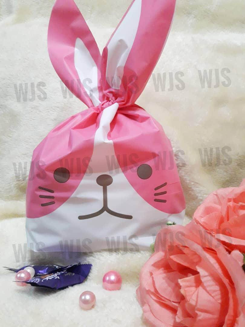 (MULTIPLE SIZES) WJS 50pcs 50 pcs Cute Rabbito Rabbit Colorful Ears Goodies Bag