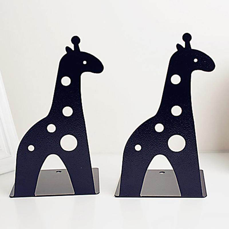 Giraffe elephant tinplate book creative book shelves # Black