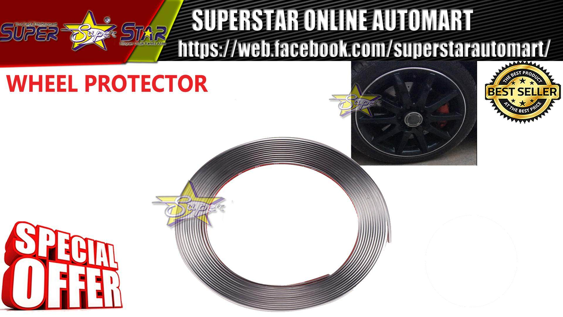 Car Wheel Rim Protectors Auto / Rings / Plating Silver