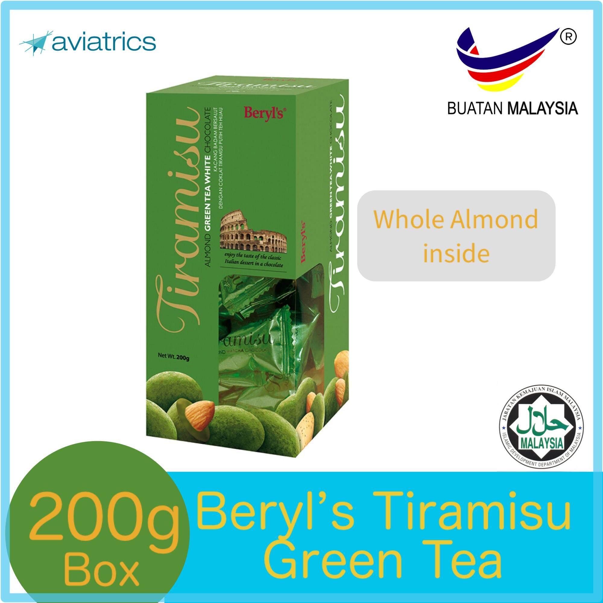 Beryl's Tiramisu Almond Green Tea Chocolate 200g (Made in Malaysia)