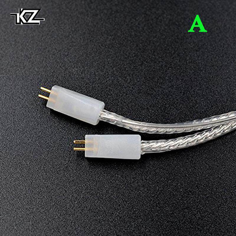 Retail Price Kz Zs3 Zs4 Zs5 Zs6 Zst Zs10 Zsr Ed12 Es3 Es4 Headset Braided Silver Plated Wire Upgrade Earphone Cable 75Mm Pin Diy Detachable Audio Cord Original