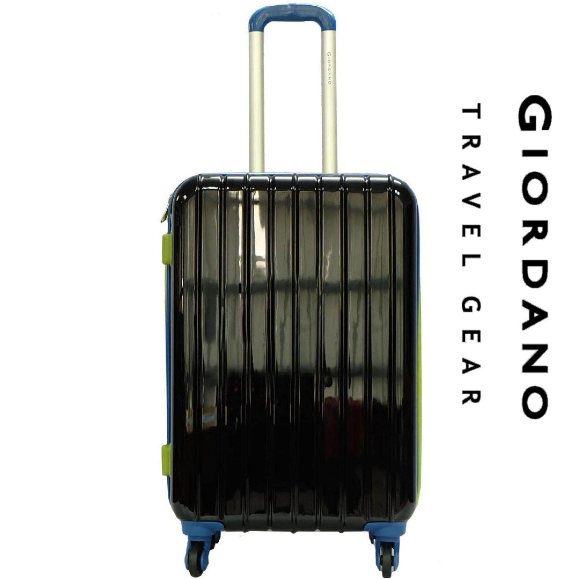 Giordano GAD1232 24 inches MULTICOLOR PC Hard Case w Expander- 4W Black