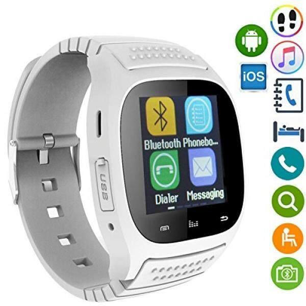 Jam Tangan Pintar Bluetooth Pintar Jam Tangan Sweatproof Olahraga Alat Pengukur Langkah Kebugaran Pelacak Slee Memantau Anti Hilang Arloji Ponsel untuk Android IOS iPhone 8 7 6 S Plus Samsung S8 Plus S7 S6 Sisi-Internasional