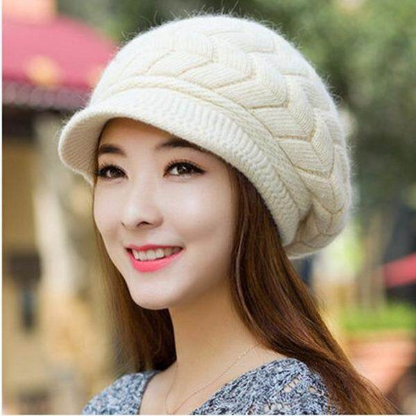 ae31aea865c Casual Arrow Autumn Beanies Knitted Hat Women s Winter Spring Hats For Women  Caps Warm Fur Winter