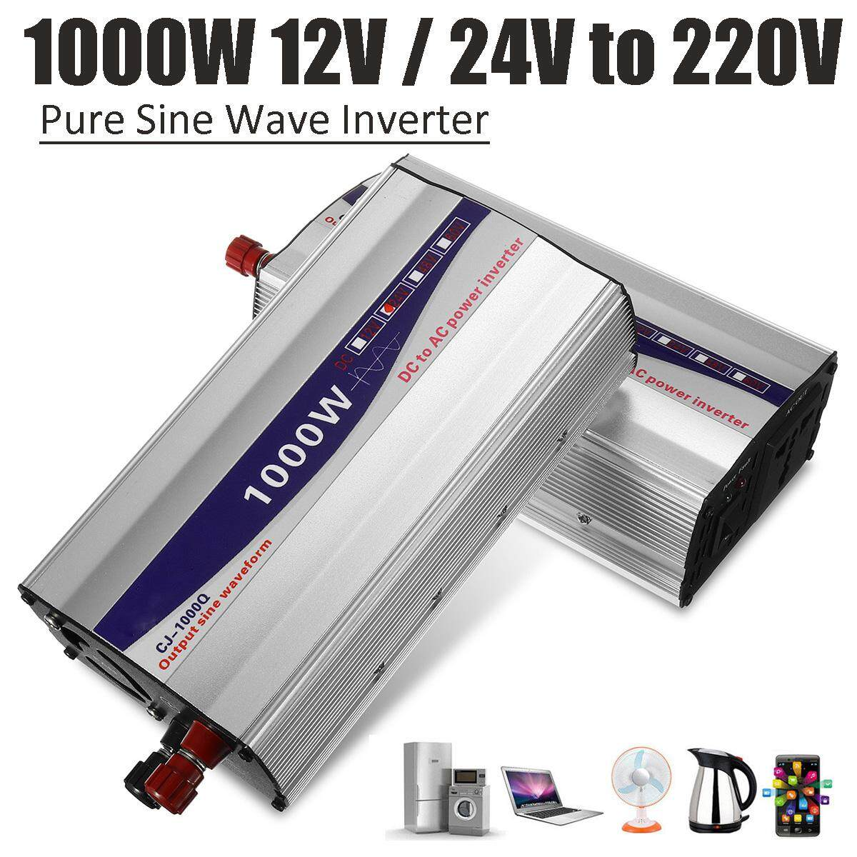 1000W Pure Sine Wave 50HZ Car Power Inverter 24V To 220V Charger Converter