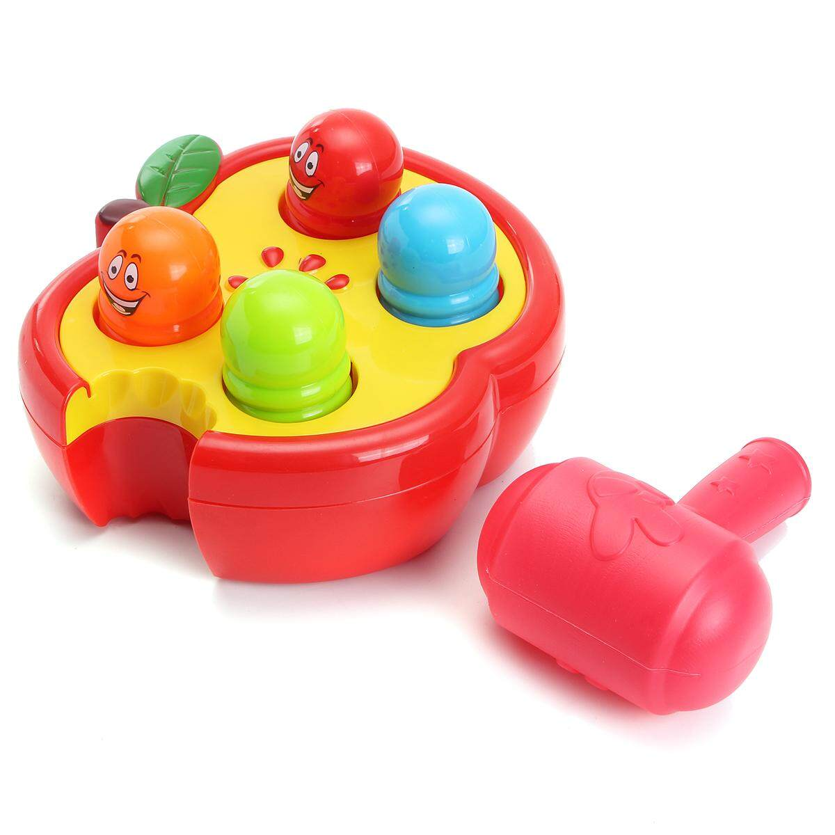 Electronic Percussion Toys Fruitworm Whac-A-Mole Game Sound Preschool Toddler By Moonbeam.