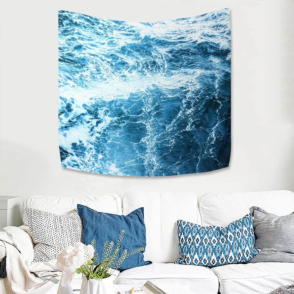 150cm x 130cm Art Wall Tapestry Ocean Wave Tapestry Wall Hanging Wall Tapestry Home Decoration - intl