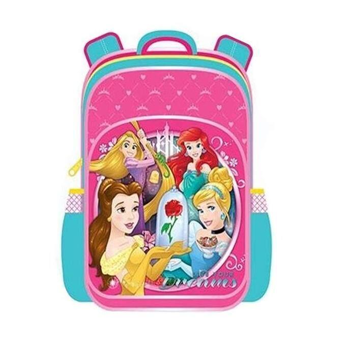 Disney Princess Pre School Backpack Kindergarten Nursery Kids Children School Bag - Pink Colour