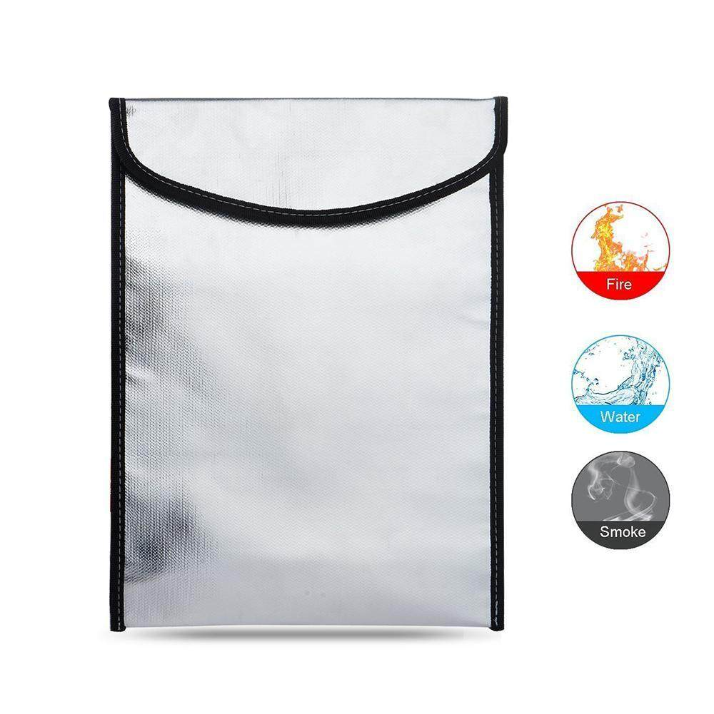 Womdee Portable Fireproof Waterproof Pouch Safe Bag For Document Cash Money Passport Bank File And Valuables(34*26cm) - intl