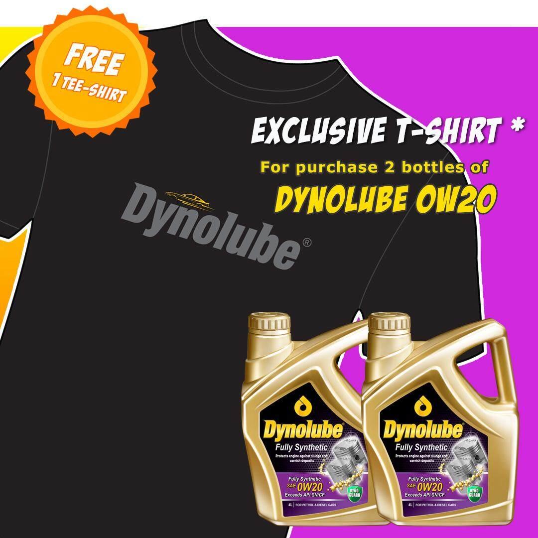 Dynolube 0W20 SN/CF Fully Synthetic 4Liter Engine Oil X 2 Bottles FREE T-Shirt X 1pcs