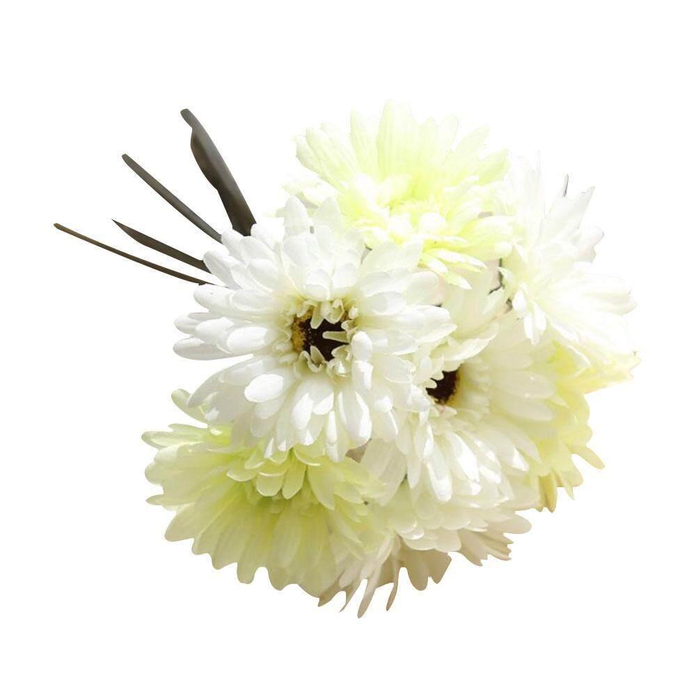 Chongqing 28 Cm Krisan Buatan Palsu Bunga Buket Indah Prom Rumah Dekorasi Pernikahan (7 Kepala)-Internasional