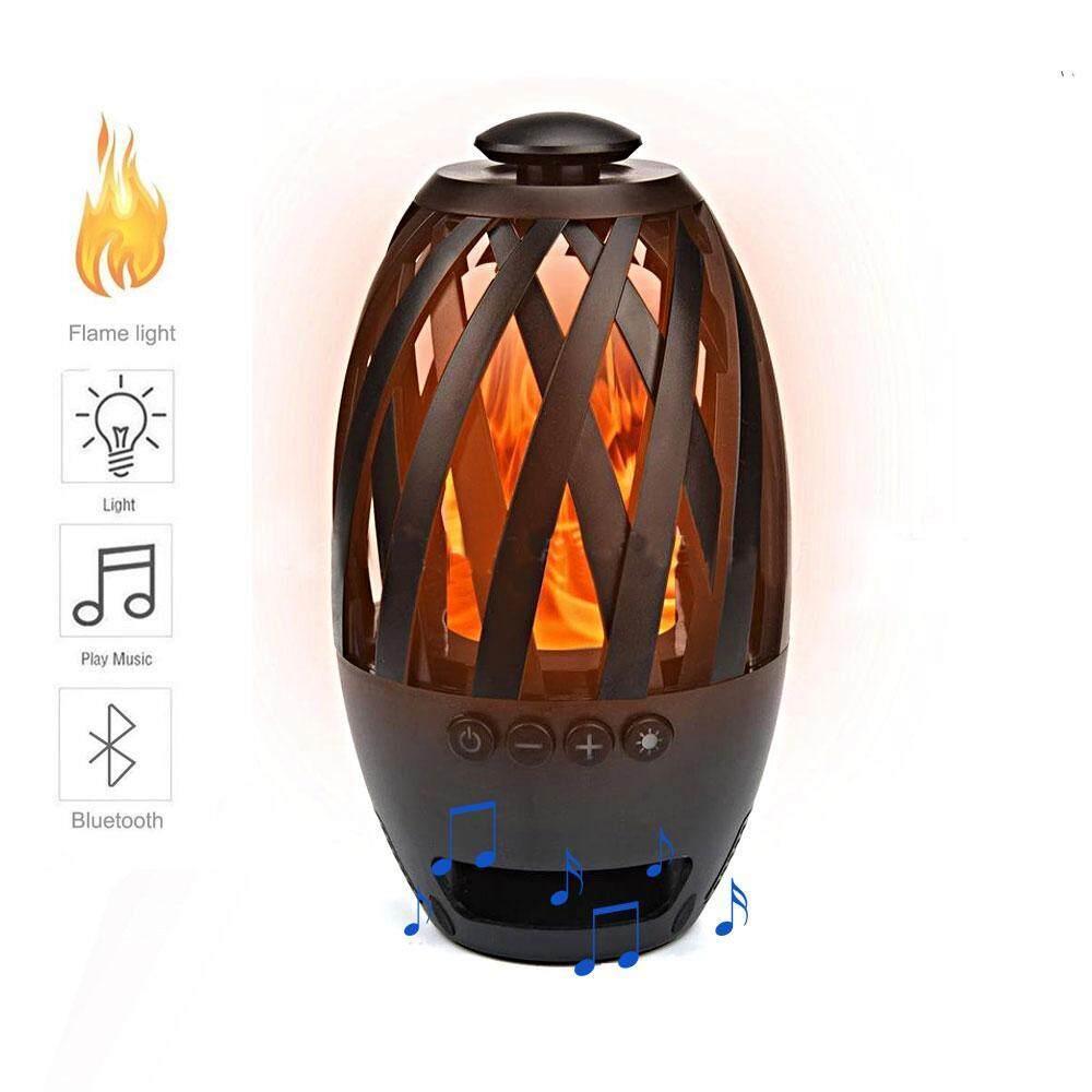 Yedatun Mini Portabel LED Flame Meja Lampu Bluetooth Pembicara Suasana Lampu-Internasional