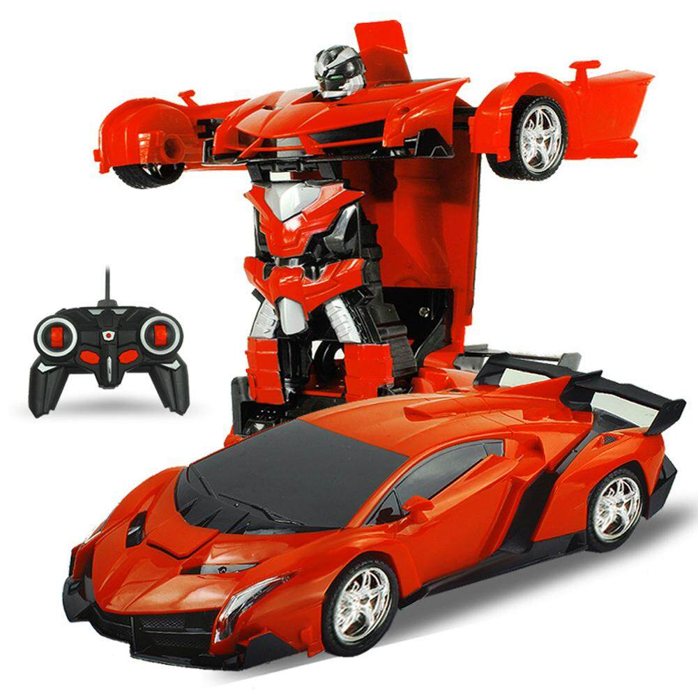 New Saideng One Key Deformation Robot Toy Transformation Electric Car Model With Remote Controller Style 1 18 Intl