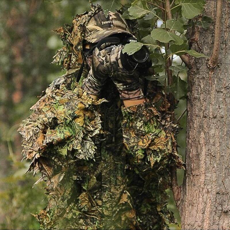 Maple Leaf Hooded 3D Bionic Training Uniform MilitarySniper CloakCamouflage Clothing