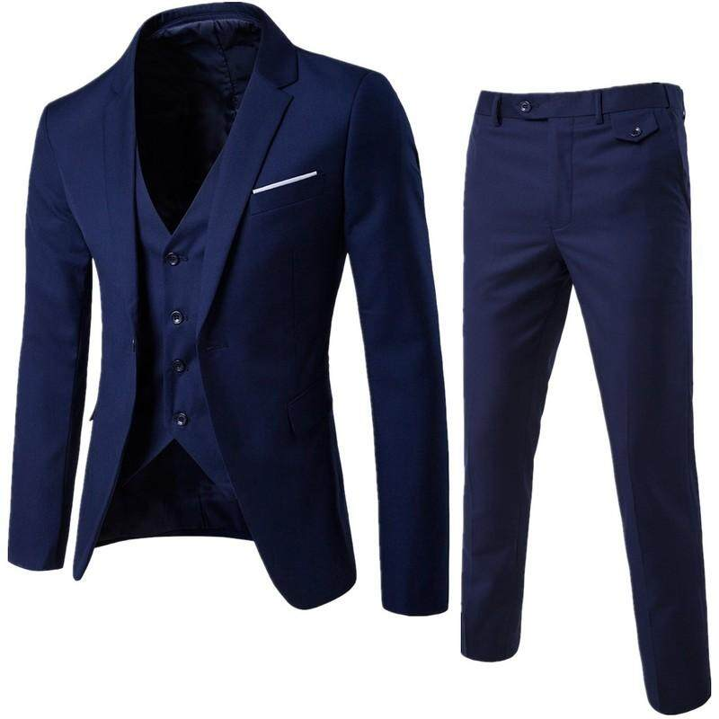 【free Shipping】mens Suits Wedding Groom 3 Pieces(jacket+vest+pant) Slim Fit Casual Tuxedo Suit Male By Travel Park.