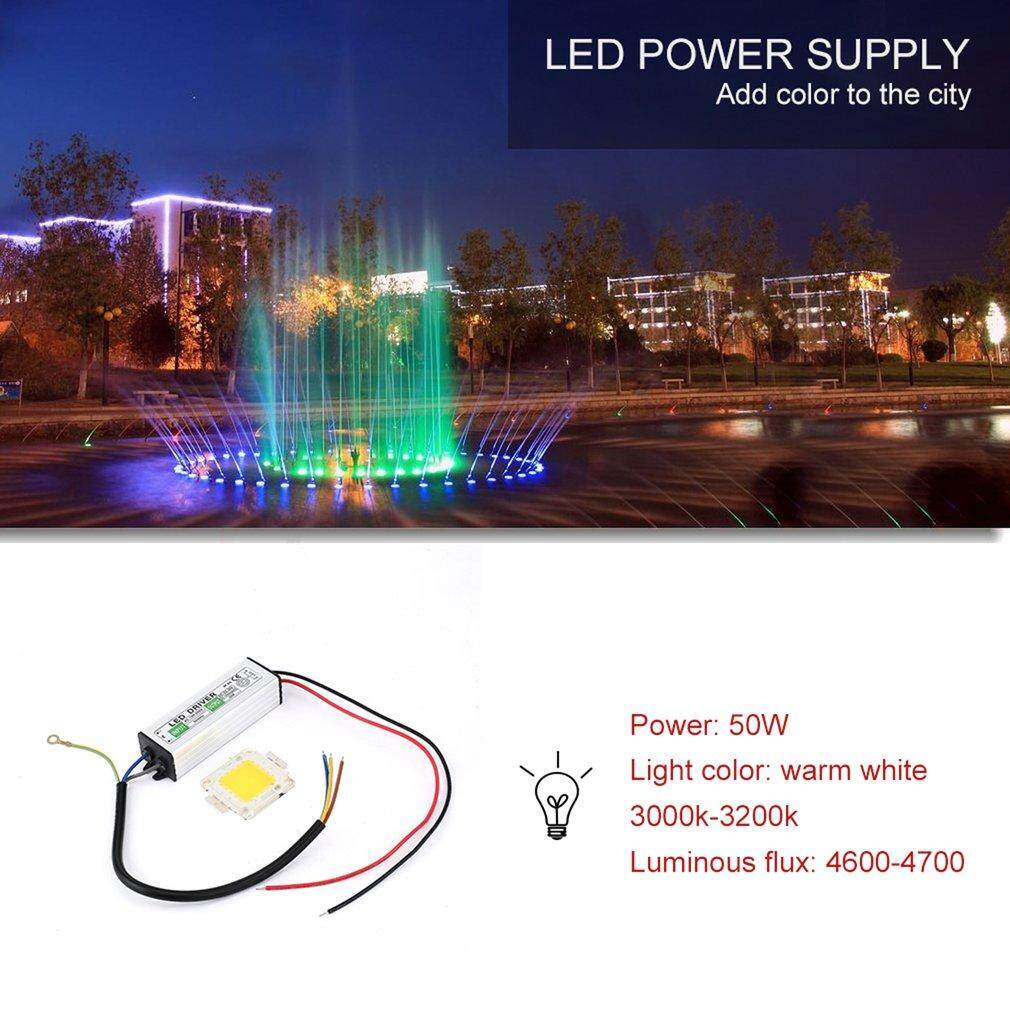 ซื้อ Era 50W Led Smd Chip Bulbs High Power With Waterproof Led Driver Supply Silver Intl ถูก