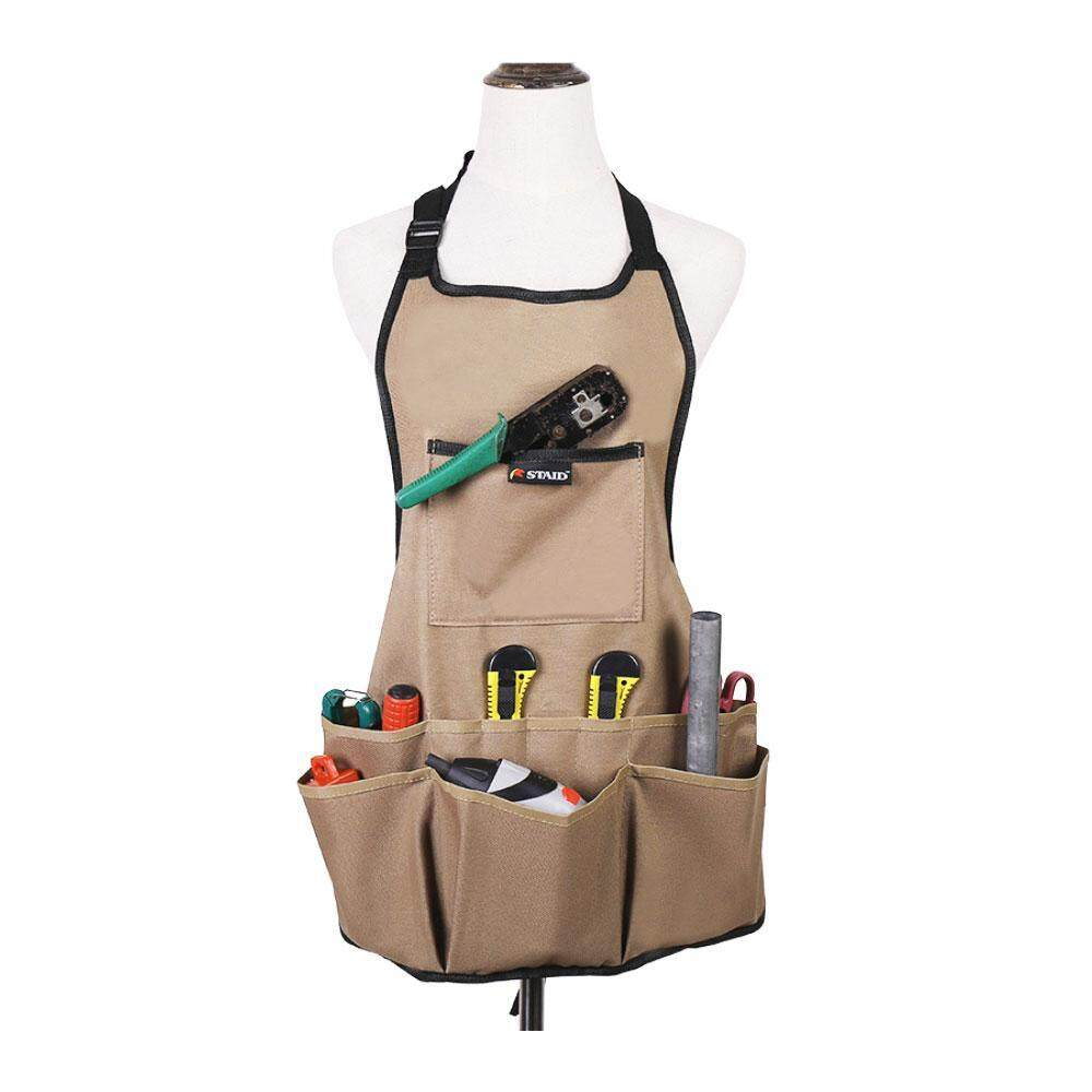 Kobwa 600d Oxford Cloth Heavy Duty Work Apron, Adjustable And Durable Tool Aprons - Intl By Kobwa Direct.