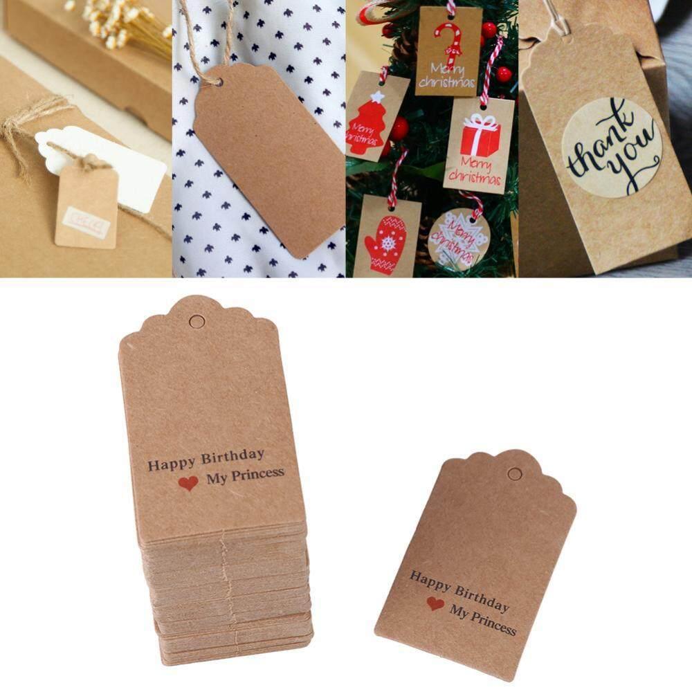 100 Pcs Cokelat Buatan Tangan Gantung Label Pernikahan Kebaikan Hadiah Dessert Label Pakaian Perhiasan Label Harga #4-Internasional