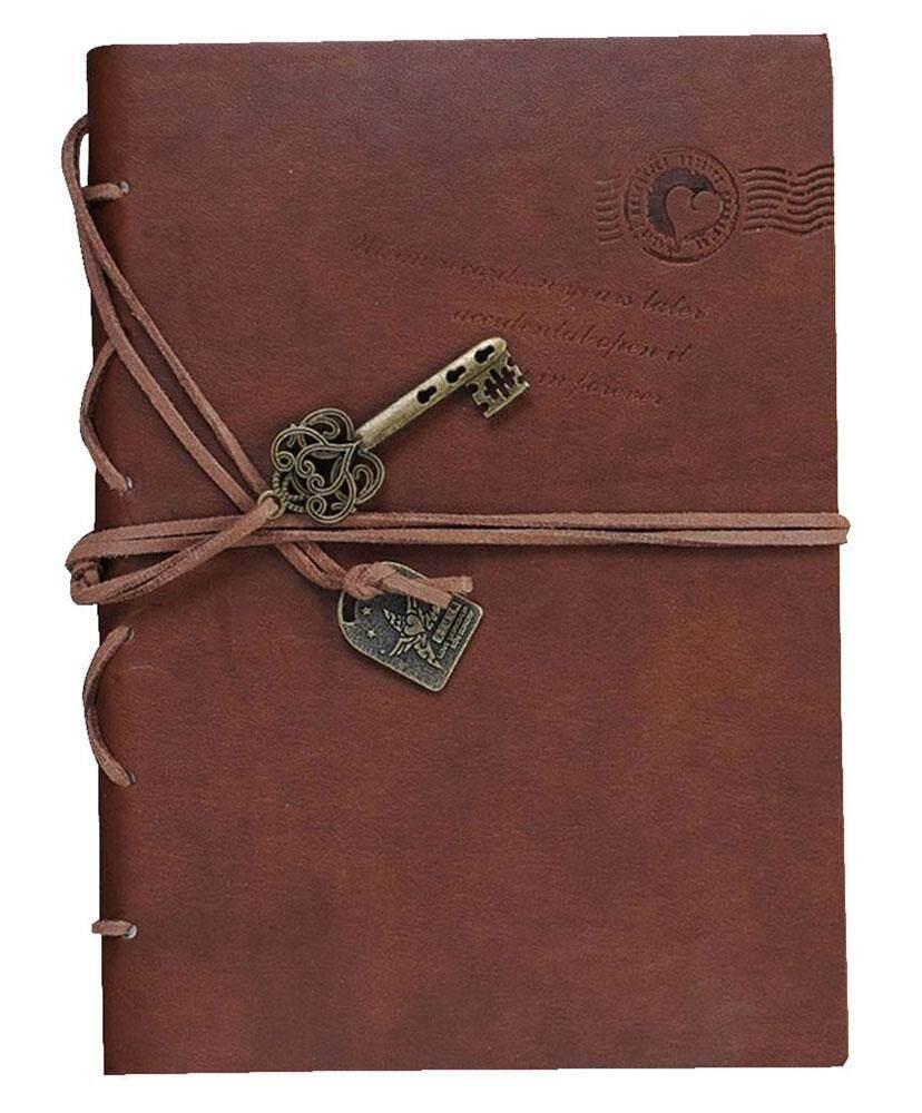 Mua Womdee Vintage Classic Key String PU Leather Bound Blank Notebook Journal Notepad,Coffee