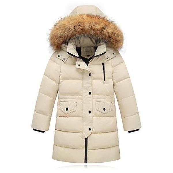 Seeduck Besar Gadis Musim Dingin Jaket Mantel Bulu Angsa Jaket Puffer Padded Mantel dengan Bulu Hood-Intl