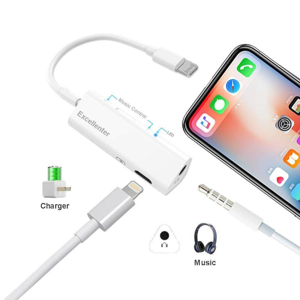 Cek Harga Baseus 2 In 1 Audio Cable For Iphone 8 7s Plus Earphone Music Series Black Year Fushi Lightning To 35mm Headphone Jack Adapter Charger