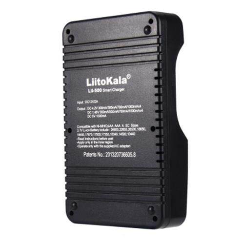 LIITOKALA LII - 500 SMART LCD BATTERY CHARGER FOR 18650 / 26650 / 16340 / 14500 / 10440 BATTERIES (BLACK)