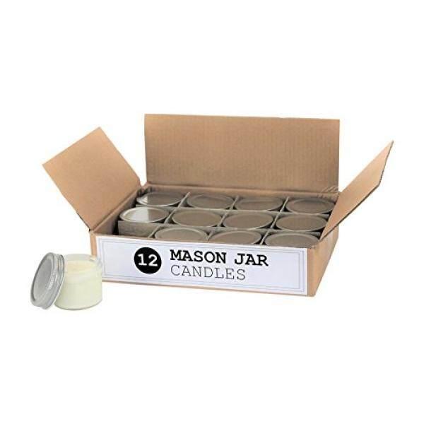 Set dari 12 Bulk Grosir Mini Mason Jar Lilin-4 Ons-Cocok untuk Pernikahan, Restoran, hadiah, Bayi Pancuran-Internasional