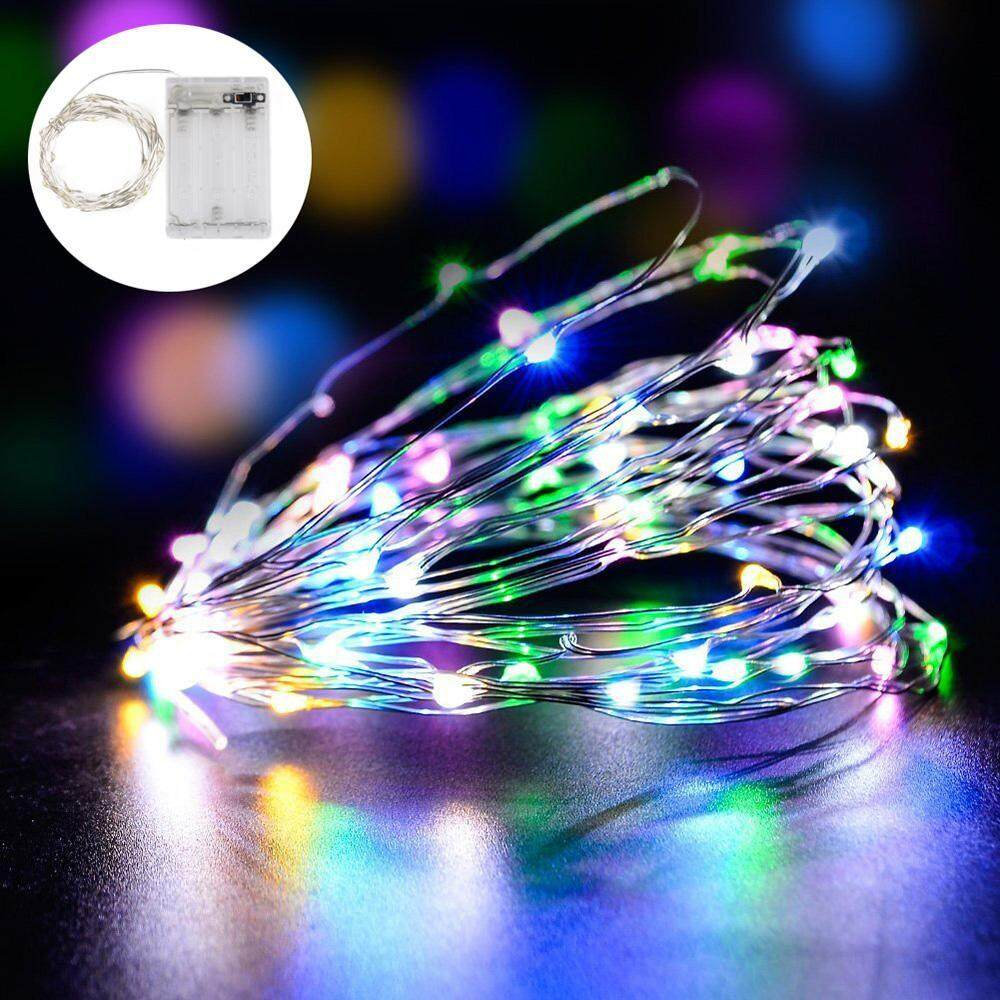 YJJZB 10m Christmas String Lights, Warm White100 LEDS Copper Wire Ultra Thin String Wire Starry
