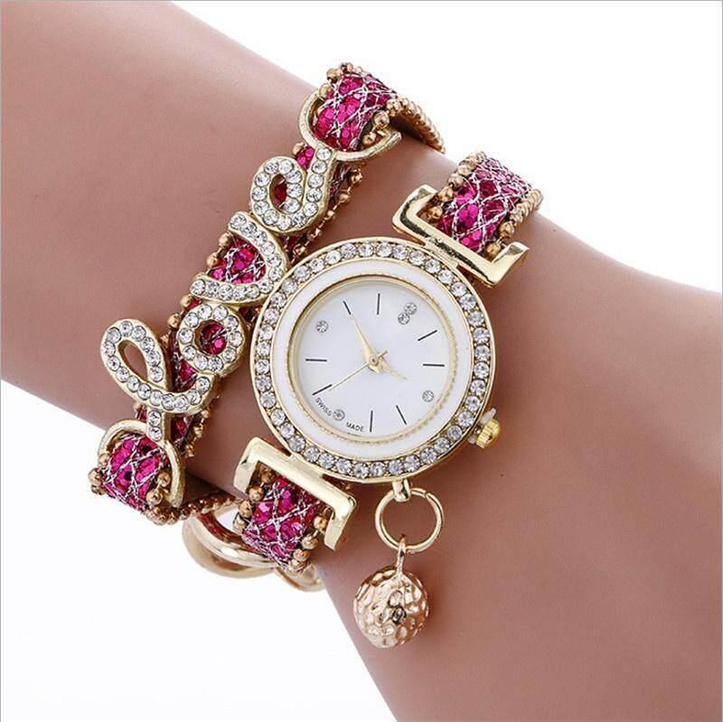1 Piece Bracelets for Women Ladies Watch Wrap Around Fashion Bracelet Diamond Lady Women Analog Quartz Gifts Malaysia