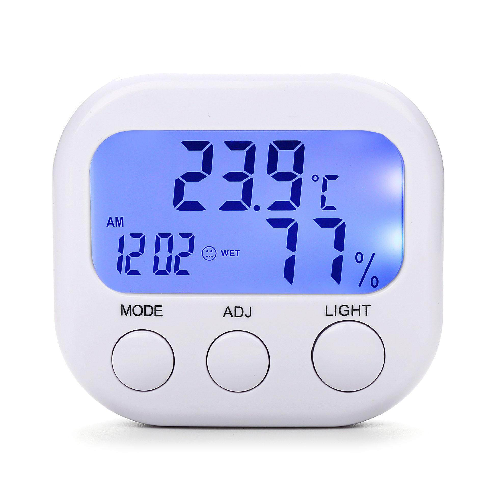 Loskii HC-16 Digital Mini Monitor Suhu Kelembaban Ruangan Higrometer Termometer Alarm Jam Dinding dengan Lampu Latar-Internasional