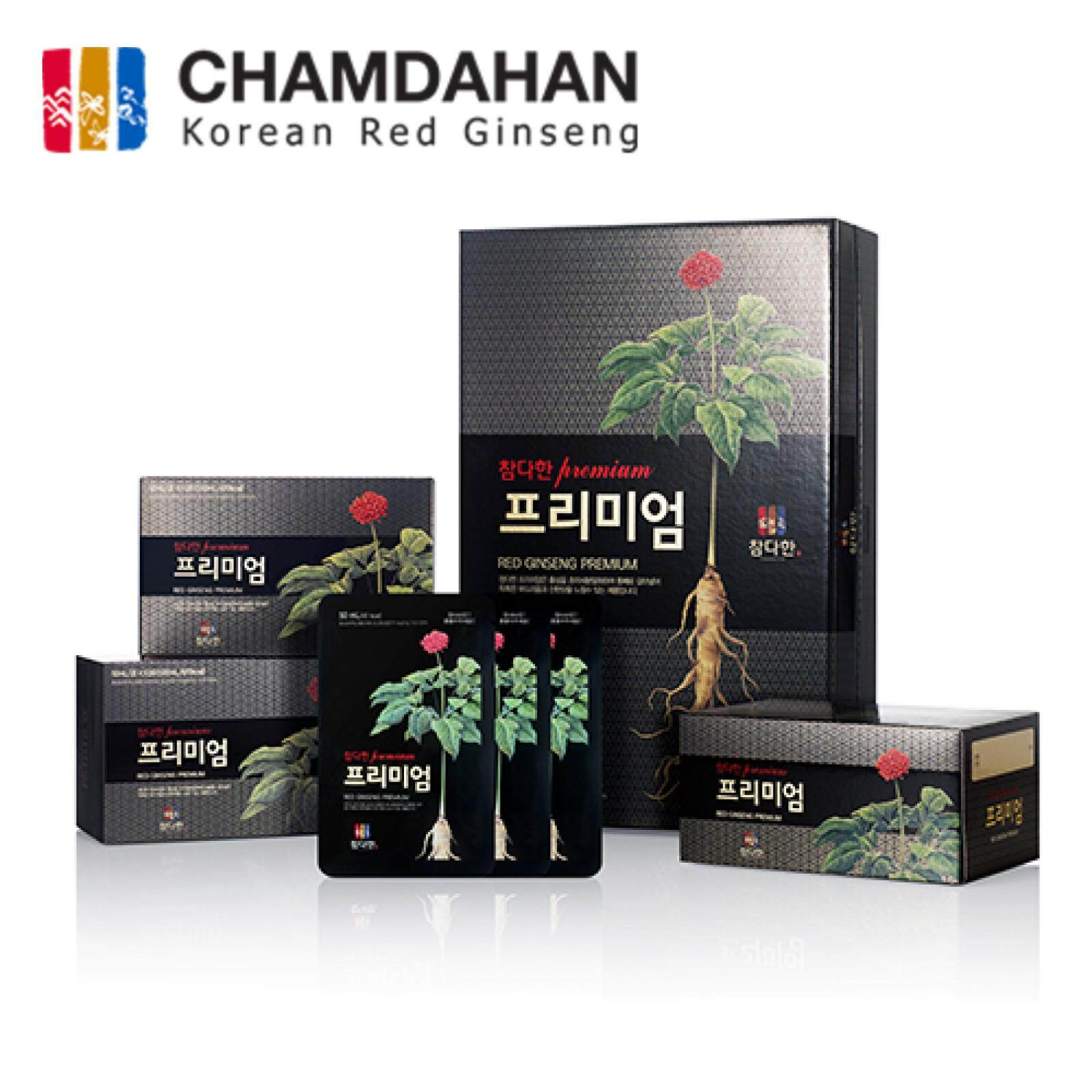 Chamdahan Korea Red Ginseng Drink Premium (1-months Supplies 30 pouches)